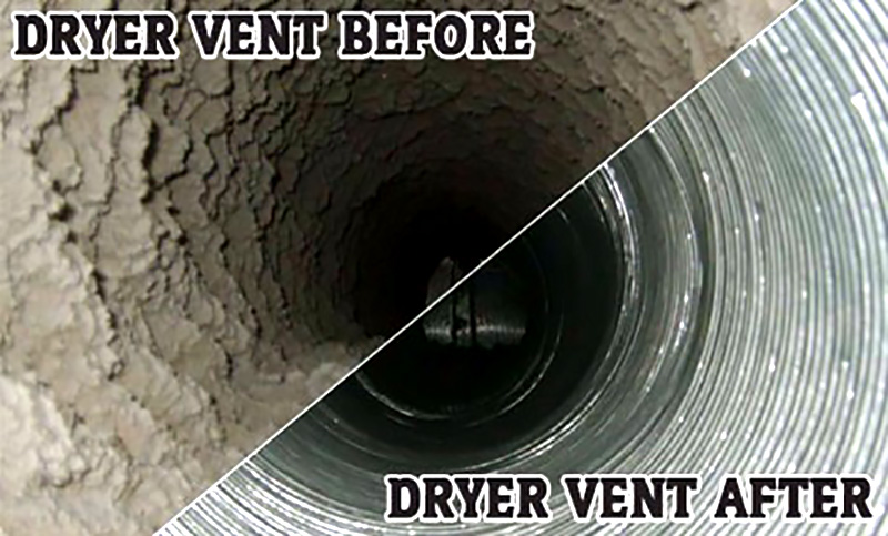 Professional Dryer Vent Cleaning in Lawrence, Kansas.